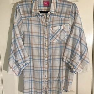 Free People Button Down Top | Size L